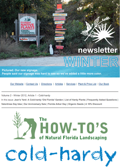 cold hardy newsletter